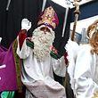 En 2013, Saint Nicolas sur son char durant la parade à Luxembourg-ville