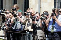 24.5.Visite Vladimir Putin / Praesident Russland / Presseandrang  / Palais Foto: Guy Jallay