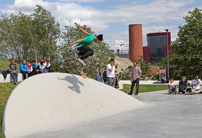 Am Samstag wurde der Skatepark in Belval offiziell in Betrieb genommen.