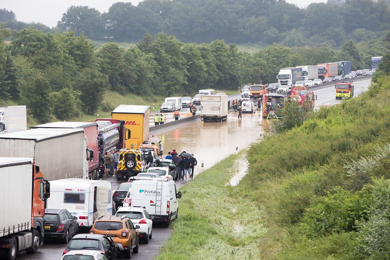 Inondation /†berschwemmung / A3 / Livange / roeser / Photo: Blum L.