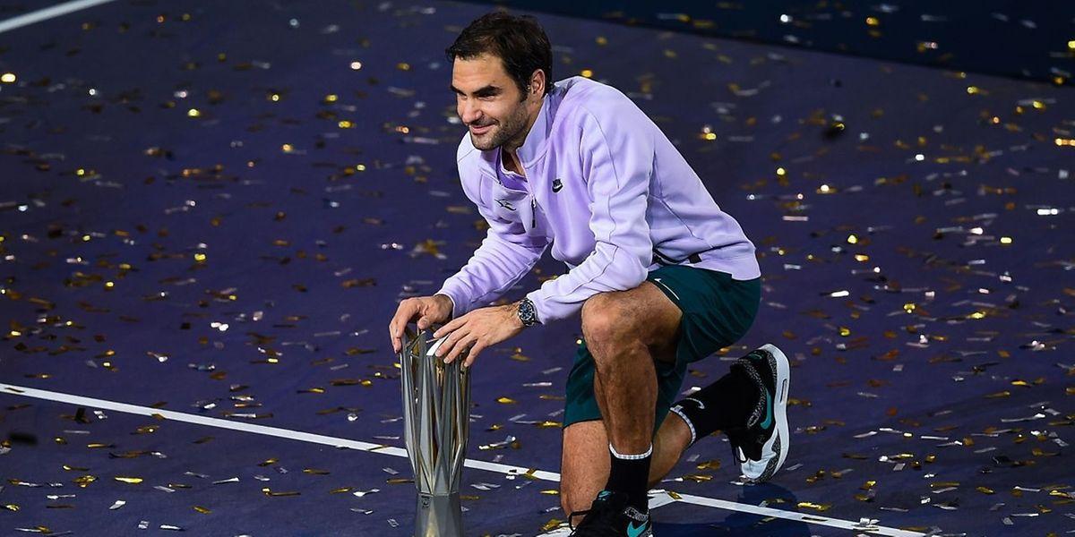 Roger Federer a enrichi sa collection de titres ce dimanche à Shanghai.