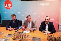 IPO.Rentrée parlementaire LSAP.Franz Fayot,Alex Bodry,Georges Engel..Foto: Gerry Huberty/Luxemburger Wort
