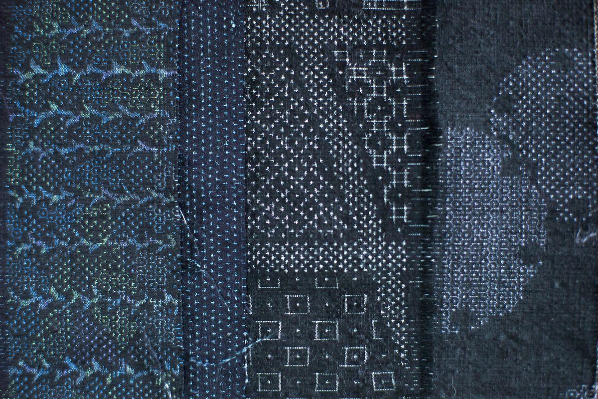 Traditionelle Yuki-tsumigi-Seide besticht durch feine Musterungen.