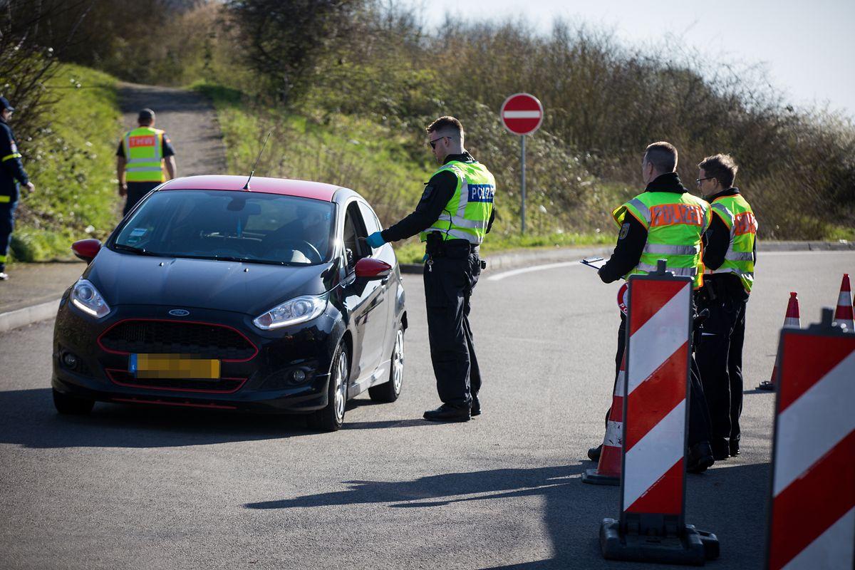 Grenzkontrollen in Schengen.