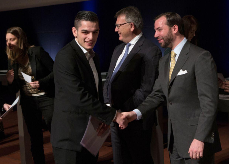 Remise des diplomes CATP/CITP/DAP et Promotion du Travail par le Ministre Nicolas Schmit et le Grand Duc Heritier, le Prince Guillaume, a la Philarmonie, Luxembourg, le 01 Mars 2015. Photo: Chris Karaba