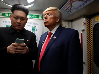 Howard, 37, an Australian-Chinese who is impersonating North Korean leader Kim Jong-un, and Dennis Alan of Chicago, 66, who is impersonating U.S. President Donald Trump