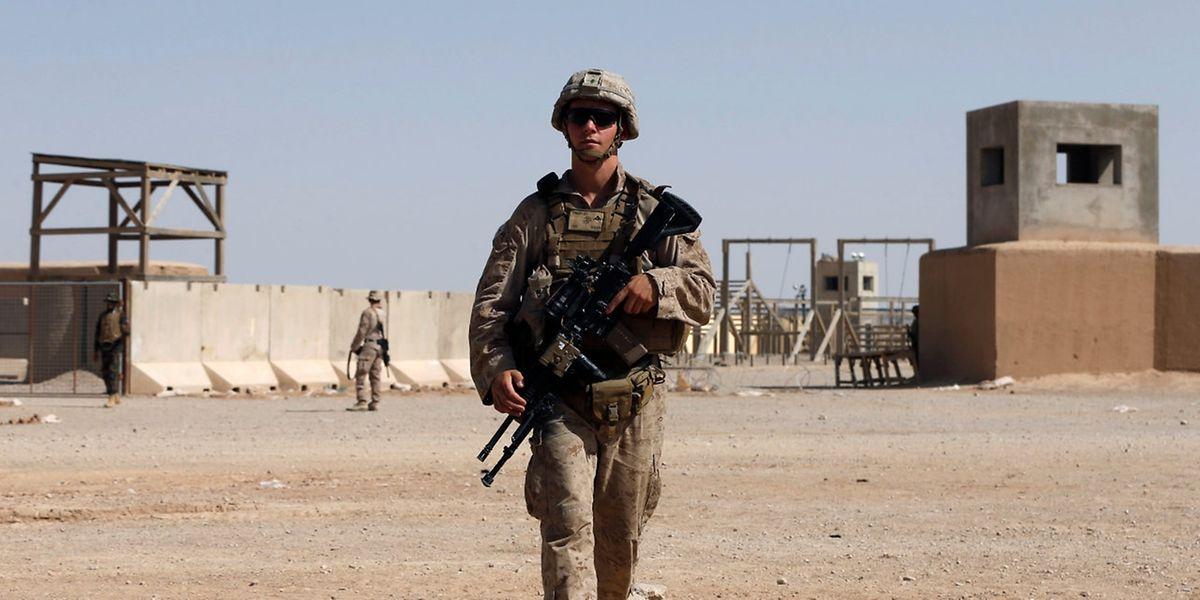Un Marine américain sur le camp d'entraînement de la province de Helmland (Photo d'illustration).