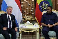 Jean Asselborn en compagnie de Dr. Workneh Gebeyehu, ministre des Affaires étrangères de la République démocratique fédérale d'Éthiopie.