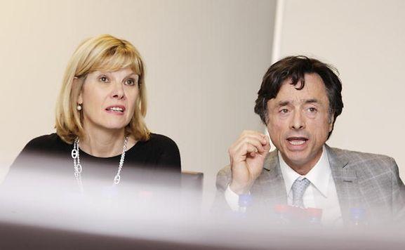 Yvette Hamilius and her lawyer maître Rosario Grasso