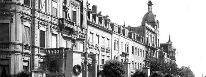 Während des Zweiten Weltkriegs hingen an vielen Plätzen von Luxemburg-Stadt Nazi-Symbole.