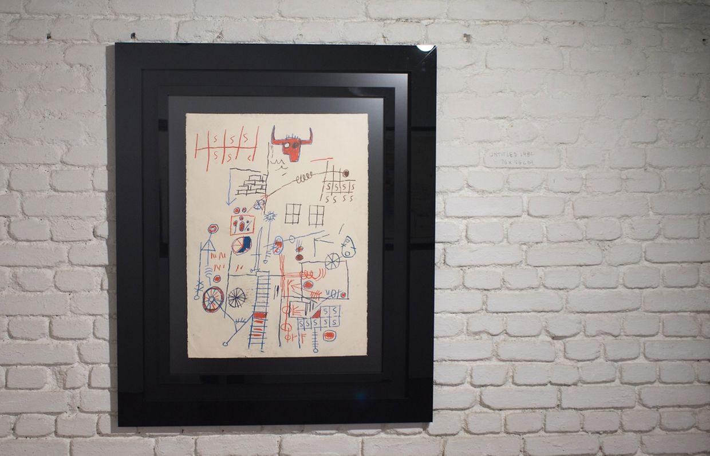 Exposaition Jean-Michel  à la galerie Basquiat,Zidoun & Bossuyt.