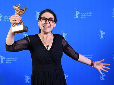La réalisatrice Ildiko Enyedi et son Ours d'or.