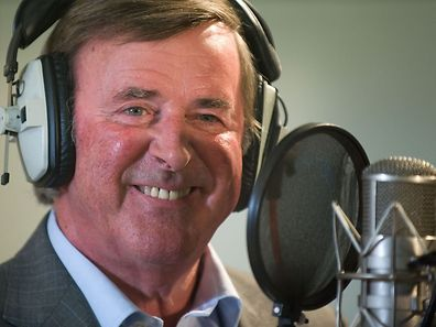 TV and radio presenter Terry Wogan taking part in a charity recording of a Children in Need album in 2009