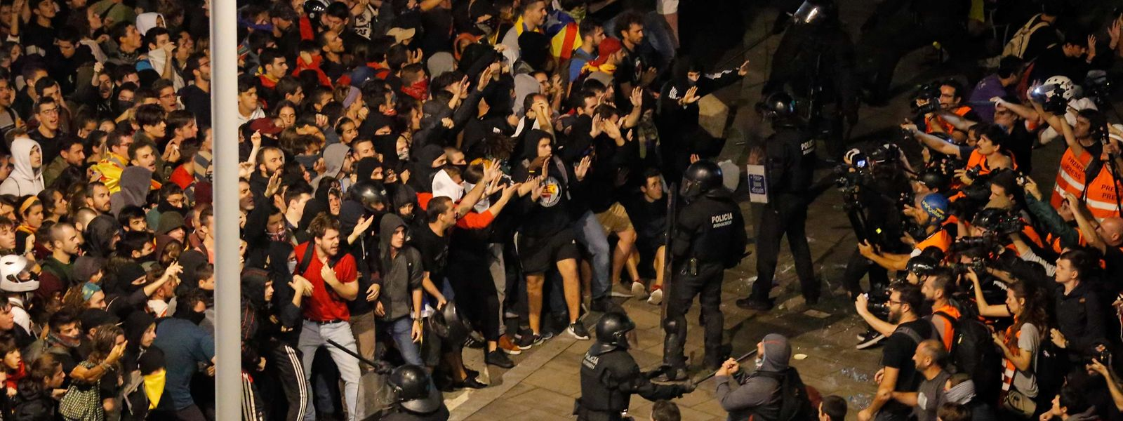 As manifestações realizaram-se em Barcelona (foto) e Tarragona.