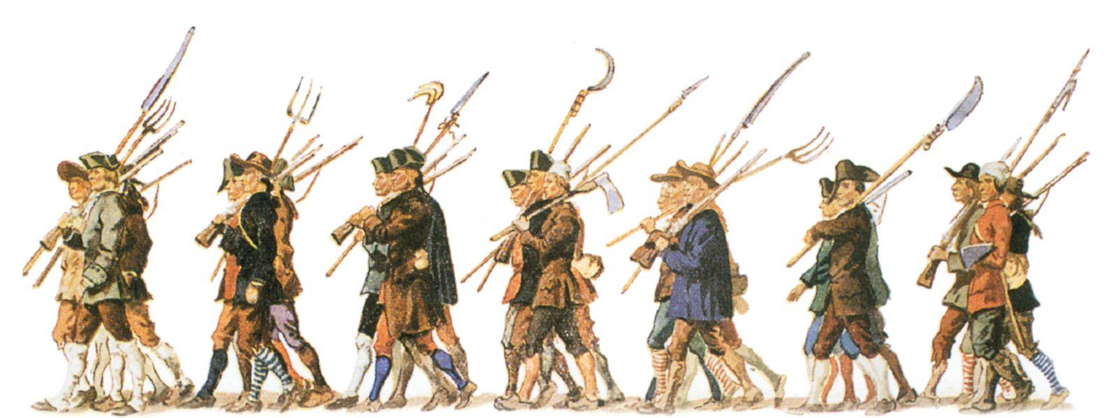 Bei der Unabhängigkeitsfeier 1939 wurde an die Klöppelmänner erinnert. Im Rahmen der Feierlichkeiten wurde ein historischer Umzug organisiert. Die Abbildung stammt aus der damaligen Erinnerungsbroschüre.