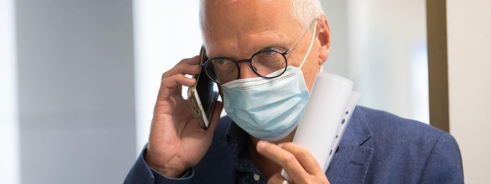 Pour Jean Claude Schmit, le secteur hospitalier n'est pas sous pression contrairement au mois d'avril 2020.