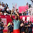 João Sousa celebra a sua primeira vitória nio Estoril Open