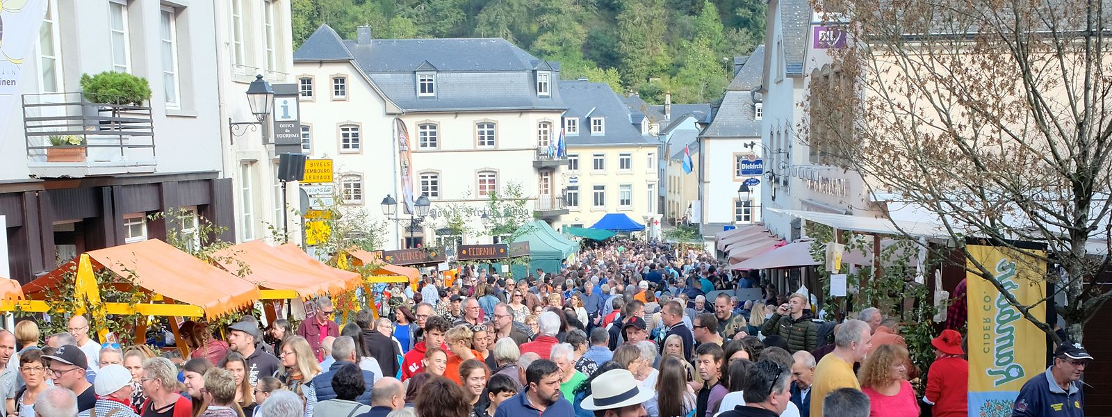Zahlreiche Besucher fanden am Sonntag den Weg bis nach Vianden.