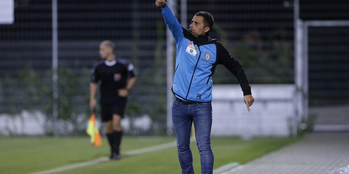 Paolo Amodio n'a pas résisté à la défaite de jeudi soir contre Rumelange.