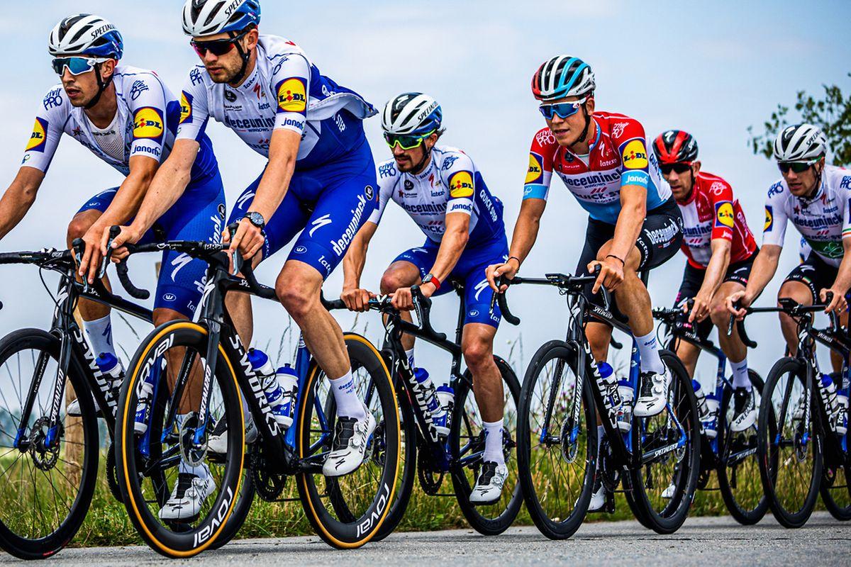 Bob Jungels et ses coéquipiers de l'équipe Deceuninck-Quick Step se sont retrouvés durant trois jours en Flandre il y a deux semaines