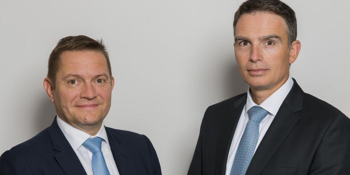 La nouvelle direction de Fortuna Banque: Mike Felten, directeur (à g.) et Jerry Grbic, directeur général.