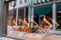 2. Lockdown in Luxemburg, geschlossene Geschäfte. Foto: John Schmit