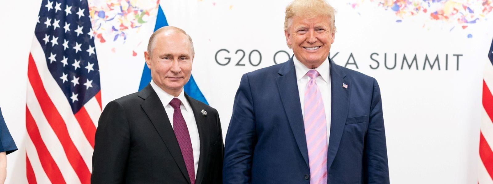 Donald Trump und Wladimir Putin während eines bilateralen Treffens beim G20-Gipfel im Sommer 2019.