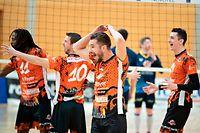 Adri Arapi (Lorentzweiler 2) / Volleyball, Novotel Ligue Maenner, Fentingen - Lorentzweiler / 24.04.2021 / Hesperange / Foto: Christian Kemp