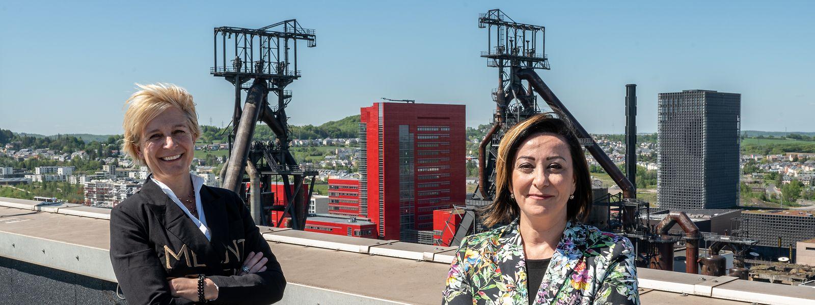 Félicie Weycker, présidente du conseil d'administration du Fonds Belval, et Daniela di Santo, nouvelle directrice de l'établissement public.
