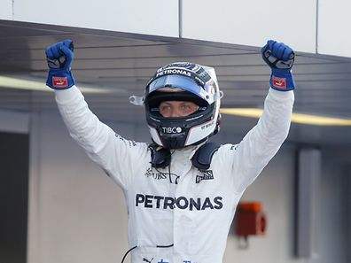 Bottas enfin sur la première marche du podium. Le Finlandais a savouré cet instant magique.