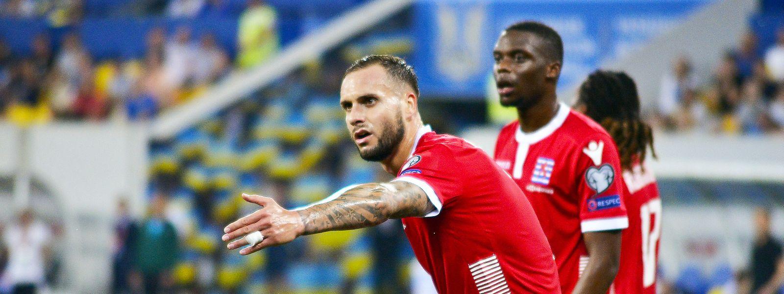 Trotz starker Leistung stand am Ende ein 0:1 auf der Anzeigetafel. Maxime Chanot (l.) und Christopher Martins.