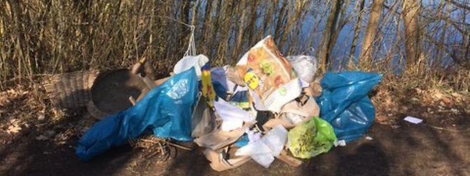 Fachgerechte Müllentsorgung sieht definitiv anders aus.