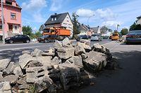 Aufräumarbeiten Tornado in Niederkerschen