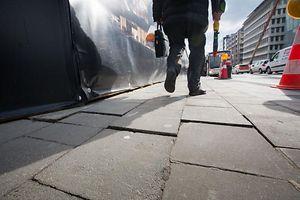 Fissures rues autour du Projet du Royal Hamilius, Foto Lex Kleren