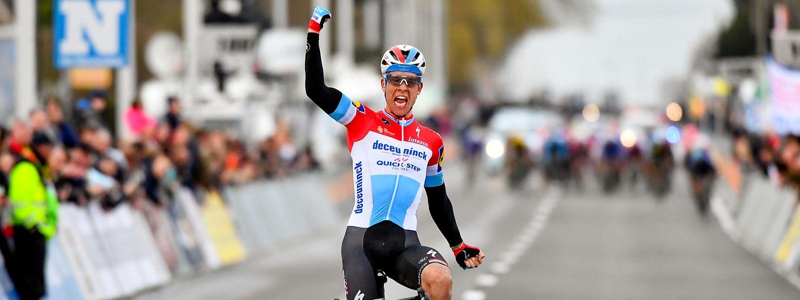 Bob Jungels ist der erste luxemburgische Sieger von Kuurne-Brüssel-Kuurne.
