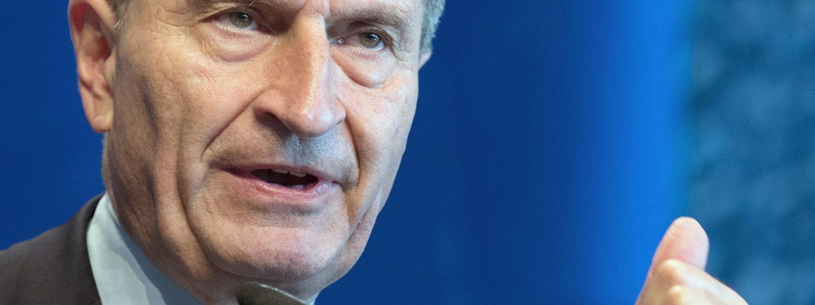Günther Oettinger, EU-Kommissar für Haushalt und Personal.
