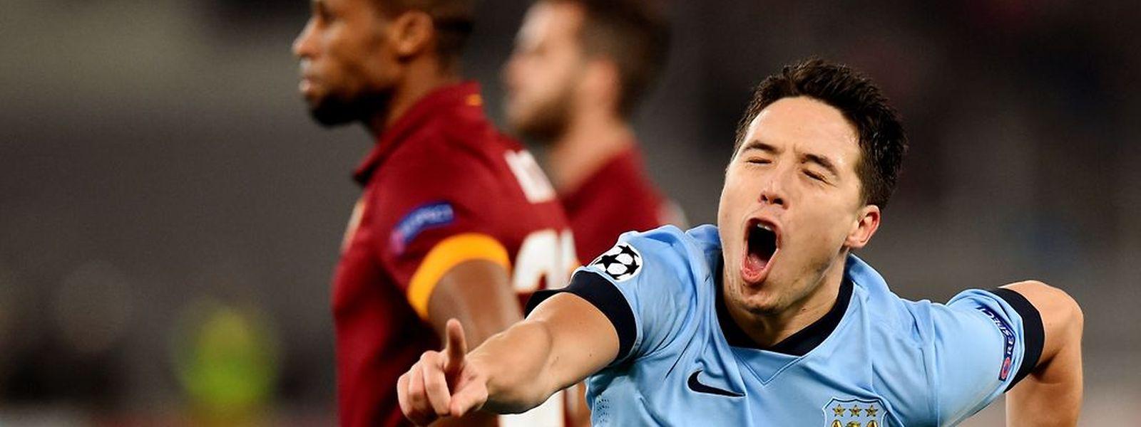 Le Français Samir Nasri indique à Manchester City la voie des 8es de finale de la Ligue des champions