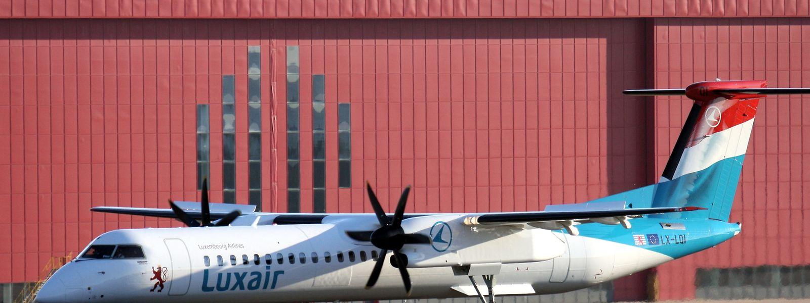 Die offizielle Kennung der neuen Q400 der Luxair ist LX-LQI.