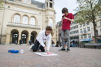 «Chalk Spray Action» ce lundi sur la place d'Armes.