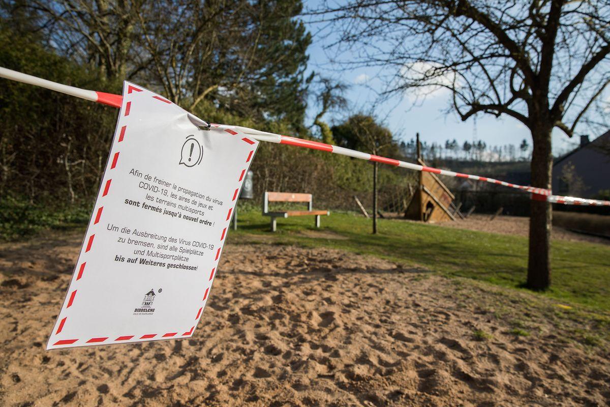 Am 17. März werden Parks und Spielplätze im ganzen Land geschlossen.