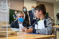 conférence de presse Summerschool 2020 - Claude Meisch ministre - Jeannot FÜRPASS Bourgmestre - Mondecange -  - 01/09/2020 - photo: claude piscitelli