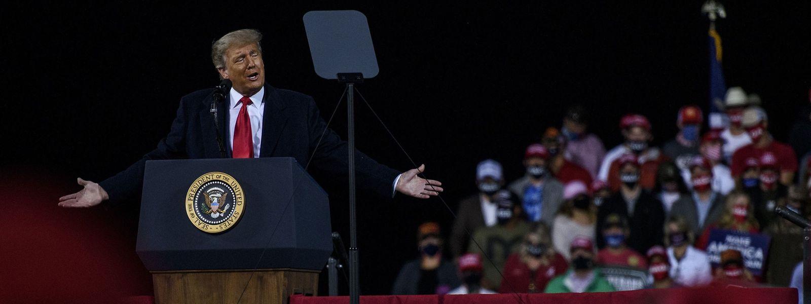 US-Präsident Donald Trump bei einer Wahlkampfveranstaltung in North Carolina am Samstag.