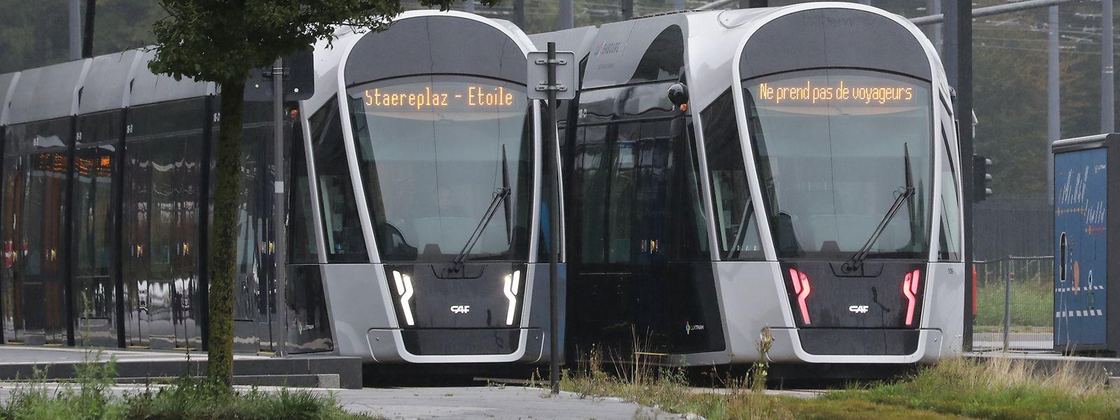 Bislang verkehrt die Tram zwischen der Place de l'Etoile und Kirchberg.