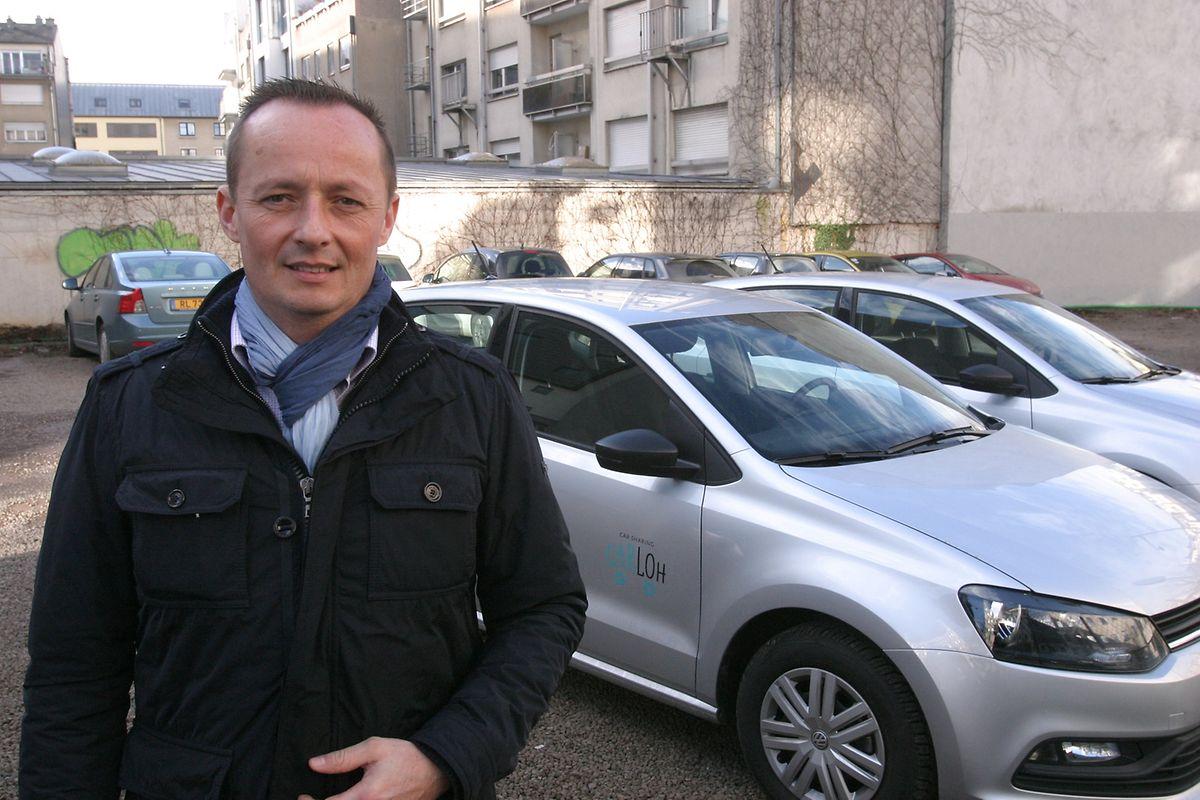 Patrick Hein: «L'idée est de passer à 18 voitures cette année». Actuellement le parc de Carloh en compte dix.