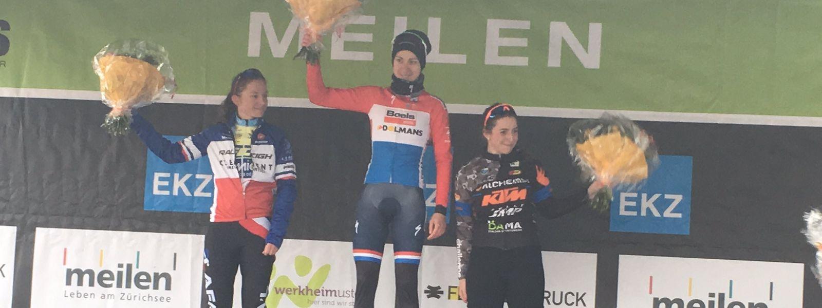 Christine Majerus pour la seconde fois sur la plus haute marche du podium en deux jours.