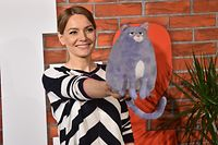 22 June 2019, North Rhine-Westphalia, Cologne: Actress Martina Hill comes to the film premiere of the computer animation film PETS2. Photo: Horst Galuschka/dpa/Horst Galuschka dpa (Photo by Horst Galuschka/picture alliance via Getty Images)