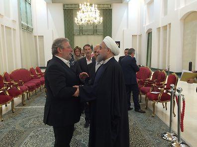 Luxembourg's Mars Di Bartolomeo meets Iran's President Hassan Rouhani in January last year