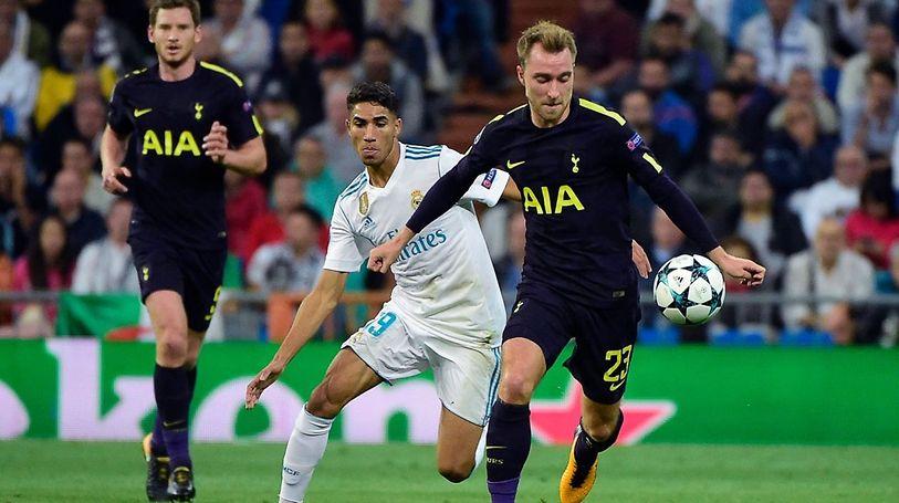 Christian Eriksen a pris le dessus sur Achraf Hakimi.Tottenham a ramené un point de Santiago Bernbeau.