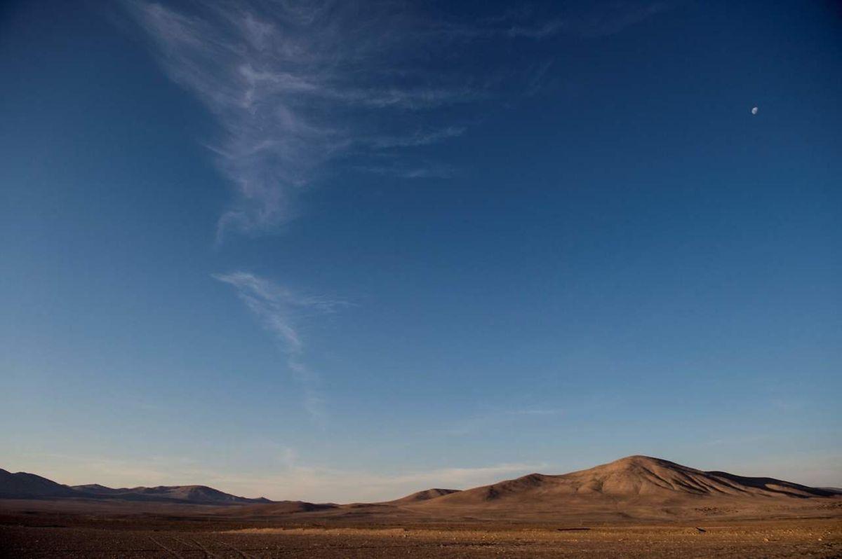 Vue générale de Yungay, dans le désert d'Atacama.