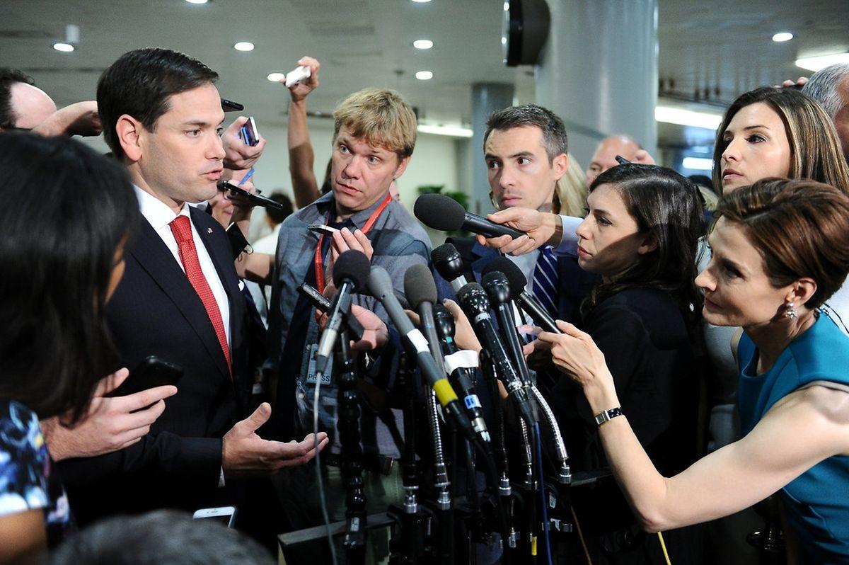 Senator Marco Rubio ist mit seinem Parteikollegen nicht ganz auf einer Wellenlänge.
